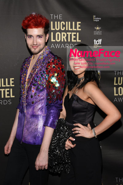 2018 Lucille Lortel Awards Arrivals Max Vernon and Guest - NameFace Photo Agency New York City - hello@nameface.com - nameface.com - Photo by Daniela Kirsch