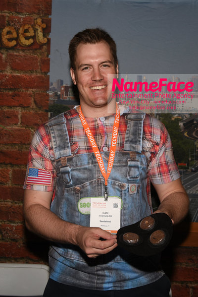 Techday 2018 NYC Startup Exhibition Cam Mackugler - Seedsheet contestant on Shark Tank - NameFace Photo Agency New York City - hello@nameface.com - nameface.com - Photo by Daniela Kirsch