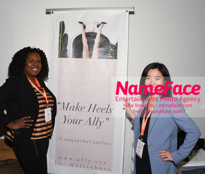 Techday 2018 NYC Startup Exhibition Roxanne Clarke and Samantha Dong - Make Heels Your Ally - NameFace Photo Agency New York City - hello@nameface.com - nameface.com - Photo by Daniela Kirsch