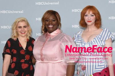 2018 NBCUniversal Upfront Mae Whitman, Retta and Christina Hendricks - NameFace Photo Agency New York City - hello@nameface.com - nameface.com - Photo by Daniela Kirsch