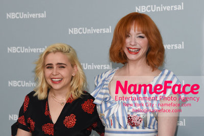 2018 NBCUniversal Upfront Mae Whitman and Christina Hendricks - NameFace Photo Agency New York City - hello@nameface.com - nameface.com - Photo by Daniela Kirsch