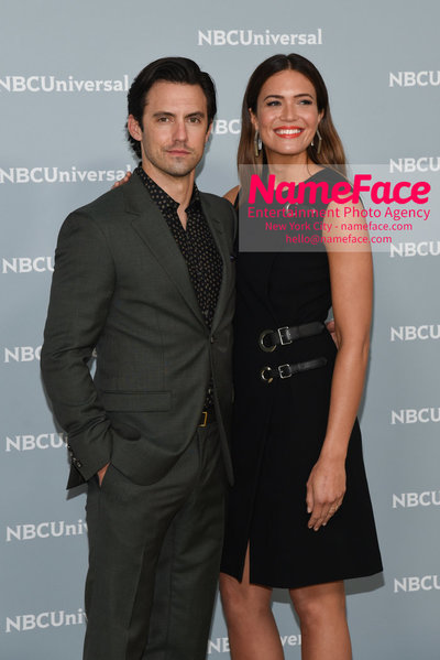 2018 NBCUniversal Upfront Milo Ventimiglia and Mandy Moore - NameFace Photo Agency New York City - hello@nameface.com - nameface.com - Photo by Daniela Kirsch