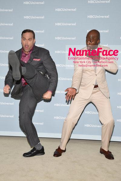 2018 NBCUniversal Upfront Matt Iseman and Akbar Gbaja-Biamila - NameFace Photo Agency New York City - hello@nameface.com - nameface.com - Photo by Daniela Kirsch