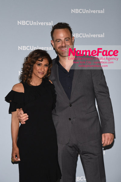 2018 NBCUniversal Upfront Sarayu Blue and Paul Adelstein - NameFace Photo Agency New York City - hello@nameface.com - nameface.com - Photo by Daniela Kirsch