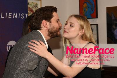 The Alienist FYC Event Daniel Bruhl and Dakota Fanning - NameFace Photo Agency New York City - hello@nameface.com - nameface.com - Photo by Daniela Kirsch