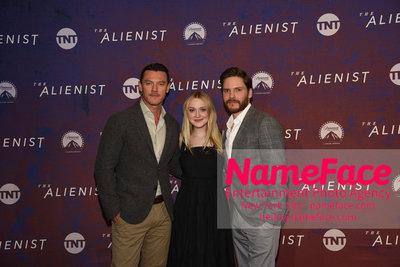 The Alienist FYC Event Luke Evans, Dakota Fanning and Daniel Bruhl - NameFace Photo Agency New York City - hello@nameface.com - nameface.com - Photo by Daniela Kirsch