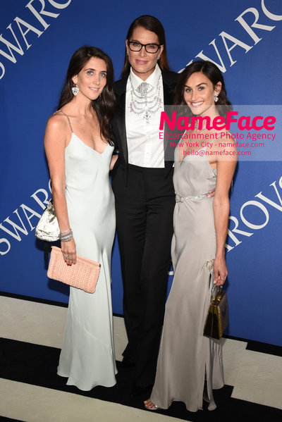2018 CFDA Fashion Awards Jodie Snyder Morel, Brooke Shields and Danielle Snyder - NameFace Photo Agency New York City - hello@nameface.com - nameface.com - Photo by Steve Eichner
