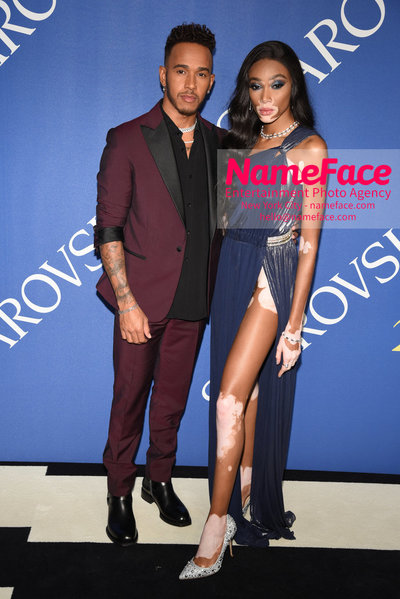 2018 CFDA Fashion Awards Lewis Hamilton and Chantelle Young - NameFace Photo Agency New York City - hello@nameface.com - nameface.com - Photo by Steve Eichner