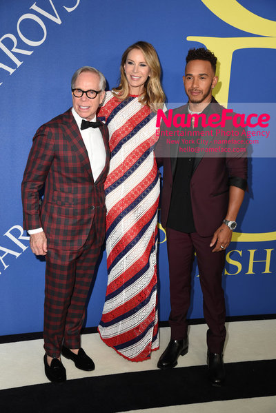 2018 CFDA Fashion Awards Tommy Hilfiger, Dee Ocleppo and Lewis Hamilton - NameFace Photo Agency New York City - hello@nameface.com - nameface.com - Photo by Steve Eichner