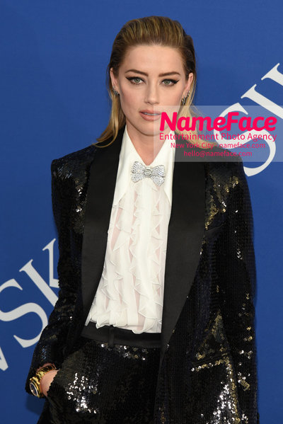 2018 CFDA Fashion Awards Amber Heard - NameFace Photo Agency New York City - hello@nameface.com - nameface.com - Photo by Steve Eichner