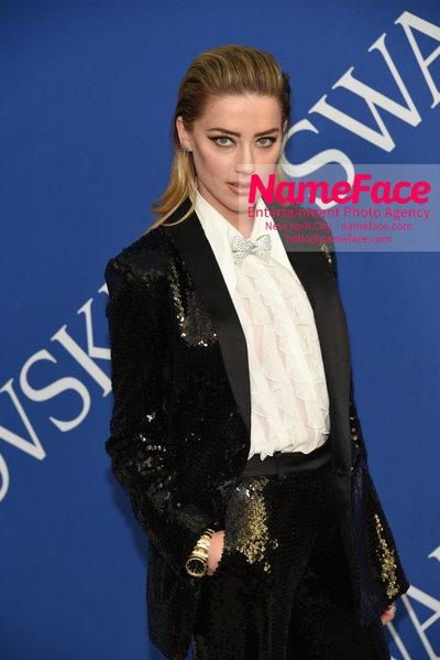 2018 CFDA Fashion Awards Amber Heard - NameFace Photo Agency New York City - hello@nameface.com - nameface.com - Photo by Steve Eichner