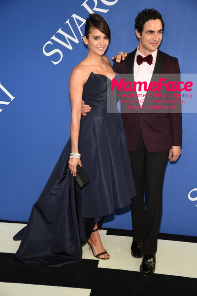2018 CFDA Fashion Awards Nina Dobrev and Zac Posen - NameFace Photo Agency New York City - hello@nameface.com - nameface.com - Photo by Steve Eichner