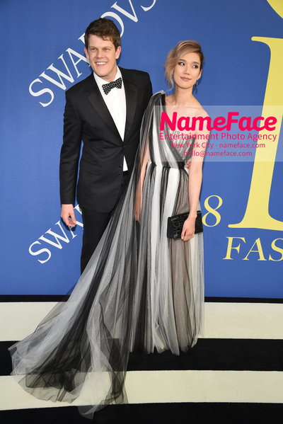 2018 CFDA Fashion Awards Wes Gordon and Tao Okamoto - NameFace Photo Agency New York City - hello@nameface.com - nameface.com - Photo by Steve Eichner
