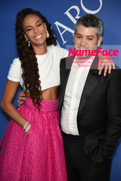 2018 CFDA Fashion Awards Joan Smalls and Brandon Maxwell - NameFace Photo Agency New York City - hello@nameface.com - nameface.com - Photo by Steve Eichner