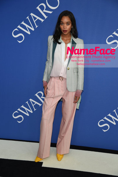 2018 CFDA Fashion Awards Laura Harrier - NameFace Photo Agency New York City - hello@nameface.com - nameface.com - Photo by Steve Eichner