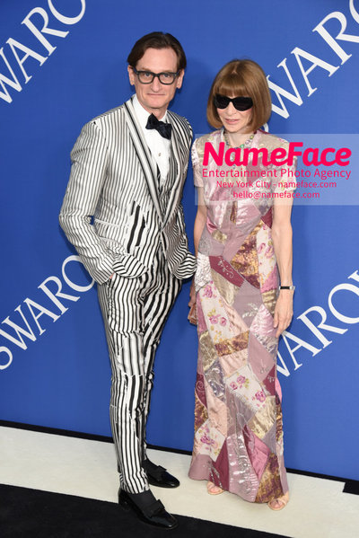 2018 CFDA Fashion Awards Hammish Bowles and Anna Wintour - NameFace Photo Agency New York City - hello@nameface.com - nameface.com - Photo by Steve Eichner