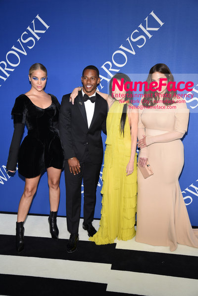 2018 CFDA Fashion Awards Jasmine Sanders, Victor Cruz, Vera Wang and Ashley Graham - NameFace Photo Agency New York City - hello@nameface.com - nameface.com - Photo by Steve Eichner