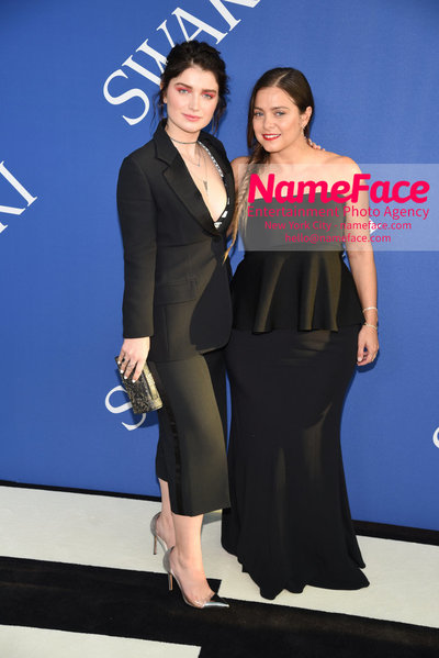 2018 CFDA Fashion Awards Eve Hewson and Eva Zuckerman - NameFace Photo Agency New York City - hello@nameface.com - nameface.com - Photo by Steve Eichner