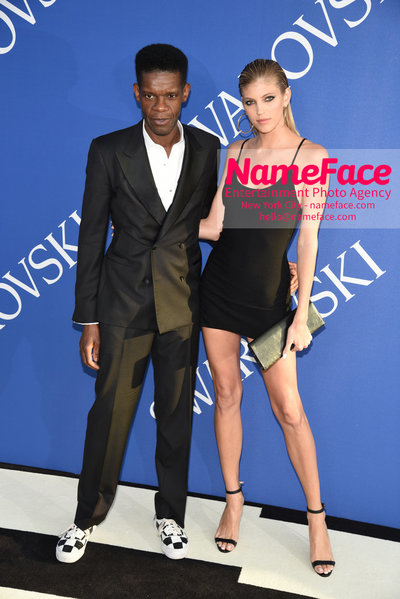 2018 CFDA Fashion Awards Victor Glemaud and Devon Windsor - NameFace Photo Agency New York City - hello@nameface.com - nameface.com - Photo by Steve Eichner