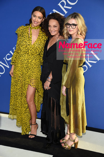 2018 CFDA Fashion Awards Irina Shayk, Diane von Furstenberg and Delaney Tarr - NameFace Photo Agency New York City - hello@nameface.com - nameface.com - Photo by Steve Eichner