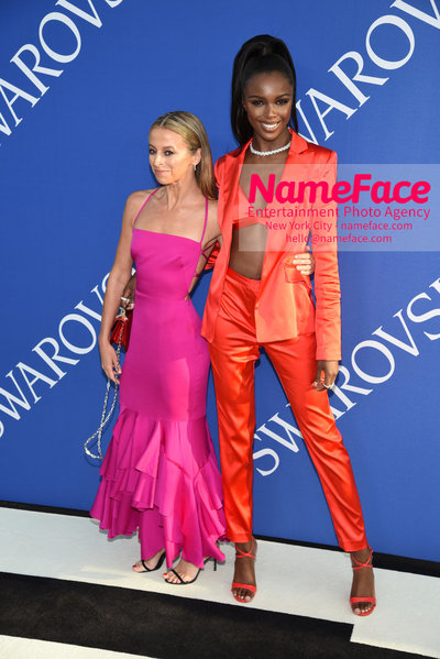 2018 CFDA Fashion Awards Michelle Smith and Leomie Anderson - NameFace Photo Agency New York City - hello@nameface.com - nameface.com - Photo by Steve Eichner
