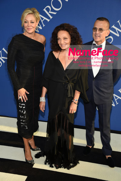 2018 CFDA Fashion Awards Nadja Swarovski, Diane von Furstenberg and Steven Kolb - NameFace Photo Agency New York City - hello@nameface.com - nameface.com - Photo by Steve Eichner