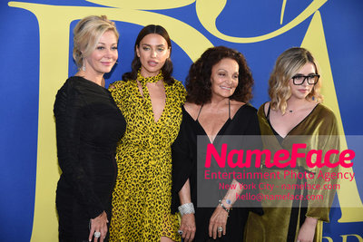 2018 CFDA Fashion Awards Nadja Swarovski, Irina Shayk, Diane von Furstenberg and Delaney Tarr - NameFace Photo Agency New York City - hello@nameface.com - nameface.com - Photo by Steve Eichner