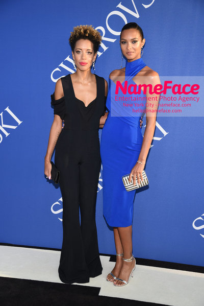 2018 CFDA Fashion Awards Carly Cushnie and Lais Ribeiro - NameFace Photo Agency New York City - hello@nameface.com - nameface.com - Photo by Steve Eichner