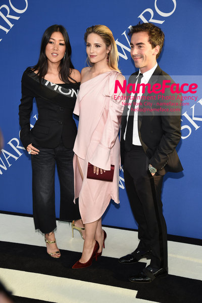 2018 CFDA Fashion Awards Laura Kim, Dianna Agron and Fernando Garcia - NameFace Photo Agency New York City - hello@nameface.com - nameface.com - Photo by Steve Eichner