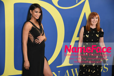 2018 CFDA Fashion Awards Chanel Iman and Nicole Miller - NameFace Photo Agency New York City - hello@nameface.com - nameface.com - Photo by Steve Eichner