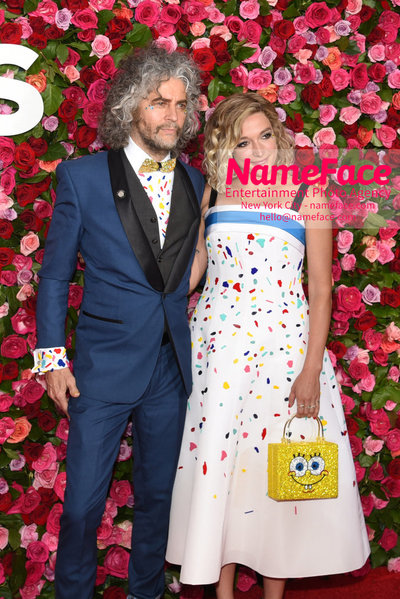 Tony Awards 2018 - Arrivals Wayne Coyne and Katy Weaver - NameFace Photo Agency New York City - hello@nameface.com - nameface.com - Photo by Daniela Kirsch