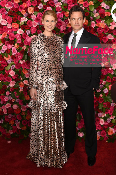 Tony Awards 2018 - Arrivals Claire Danes and Hugh Dancy - NameFace Photo Agency New York City - hello@nameface.com - nameface.com - Photo by Daniela Kirsch