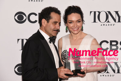 Tony Awards 2018 - Winners Tony Shalhoub and Katrina Lenk - NameFace Photo Agency New York City - hello@nameface.com - nameface.com - Photo by Daniela Kirsch