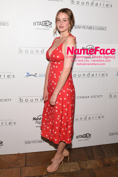 The Cinema Society with Hard Rock Hotel & Casino Atlantic City host a screening of Sony Pictures Classics Boundaries Anna Van Patten - NameFace Photo Agency New York City - hello@nameface.com - nameface.com - Photo by Daniela Kirsch