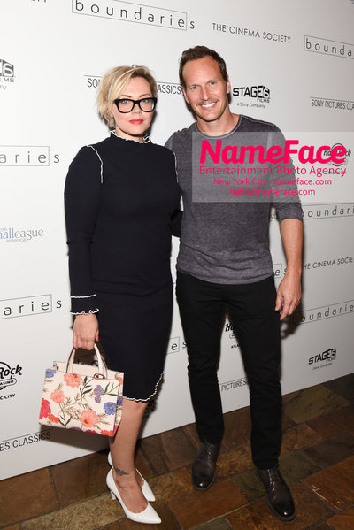 The Cinema Society with Hard Rock Hotel & Casino Atlantic City host a screening of Sony Pictures Classics Boundaries Dagmara Dominczy and Patrick Wilson - NameFace Photo Agency New York City - hello@nameface.com - nameface.com - Photo by Daniela Kirsch