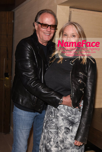The Cinema Society with Hard Rock Hotel & Casino Atlantic City host a screening of Sony Pictures Classics Boundaries - After Party Peter Fonda and Sunny Ozell - NameFace Photo Agency New York City - hello@nameface.com - nameface.com - Photo by Daniela Kirsch