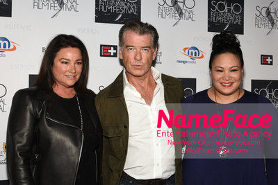 The Screening Of POISONING PARADISE At The SOHO International Film Festival Keely Shaye Smith, Pierce Brosnan and Guest - NameFace Photo Agency New York City - hello@nameface.com - nameface.com - Photo by Daniela Kirsch