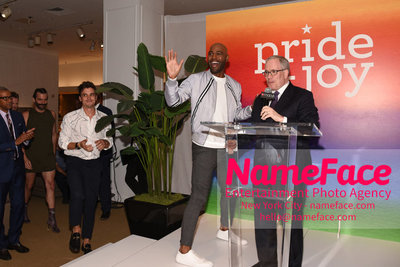Celebrate Pride Month with MACY'S HERALD SQUARE at a LGBTQ Changemakers event in support of the work and mission of the Gay Mens Health Crisis Antoni Porowski, Karamo Brown and Scott Stringer - NameFace Photo Agency New York City - hello@nameface.com - nameface.com - Photo by Daniela Kirsch