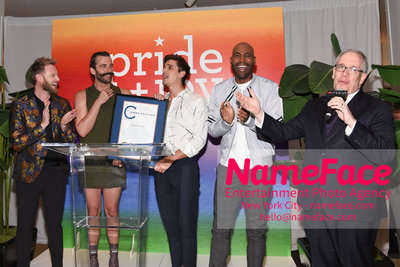 Celebrate Pride Month with MACY'S HERALD SQUARE at a LGBTQ Changemakers event in support of the work and mission of the Gay Mens Health Crisis Bobby Berk, Jonathan Van Ness, Antoni Porowski, Karamo Brown and Scott Stringer - NameFace Photo Agency New York City - hello@nameface.com - nameface.com - Photo by Daniela Kirsch