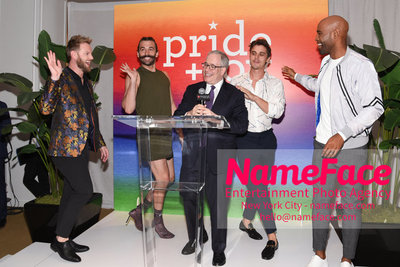 Celebrate Pride Month with MACY'S HERALD SQUARE at a LGBTQ Changemakers event in support of the work and mission of the Gay Mens Health Crisis Bobby Berk, Jonathan Van Ness, Scott Stringer and Antoni Porowski and Karamo Brown - NameFace Photo Agency New York City - hello@nameface.com - nameface.com - Photo by Daniela Kirsch