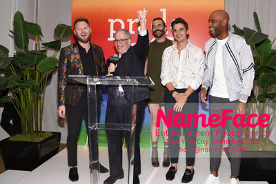 Celebrate Pride Month with MACY'S HERALD SQUARE at a LGBTQ Changemakers event in support of the work and mission of the Gay Mens Health Crisis Bobby Berk, Scott Stringer, Jonathan Van Ness, Antoni Porowski and Karamo Brown - NameFace Photo Agency New York City - hello@nameface.com - nameface.com - Photo by Daniela Kirsch