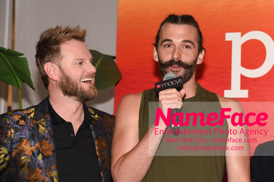 Celebrate Pride Month with MACY'S HERALD SQUARE at a LGBTQ Changemakers event in support of the work and mission of the Gay Mens Health Crisis Bobby Berk and Jonathan Van Ness - NameFace Photo Agency New York City - hello@nameface.com - nameface.com - Photo by Daniela Kirsch
