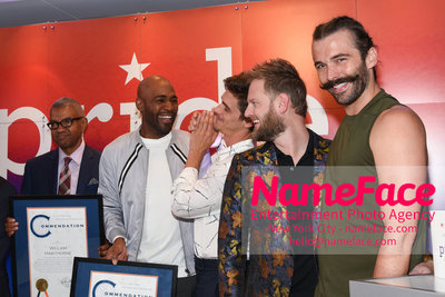 Celebrate Pride Month with MACY'S HERALD SQUARE at a LGBTQ Changemakers event in support of the work and mission of the Gay Mens Health Crisis Karamo Brown, Antoni Porowski, Bobby Berk and Jonathan Van Ness - NameFace Photo Agency New York City - hello@nameface.com - nameface.com - Photo by Daniela Kirsch