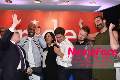 Celebrate Pride Month with MACY'S HERALD SQUARE at a LGBTQ Changemakers event in support of the work and mission of the Gay Mens Health Crisis Scott Stringer, Karamo Brown, Antoni Porowski, Bobby Berk and Jonathan Van Ness - NameFace Photo Agency New York City - hello@nameface.com - nameface.com - Photo by Daniela Kirsch