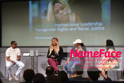 Screening of the documentary Free CeCe! - Transgender Rights and Racial Justice - LGBTQ Pride Month Tiq Milan, Laverne Cox, CeCe McDonald and Jacqueline Gares - NameFace Photo Agency New York City - hello@nameface.com - nameface.com - Photo by Daniela Kirsch