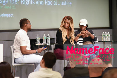 Screening of the documentary Free CeCe! - Transgender Rights and Racial Justice - LGBTQ Pride Month Tiq Milan, Laverne Cox and CeCe McDonald - NameFace Photo Agency New York City - hello@nameface.com - nameface.com - Photo by Daniela Kirsch