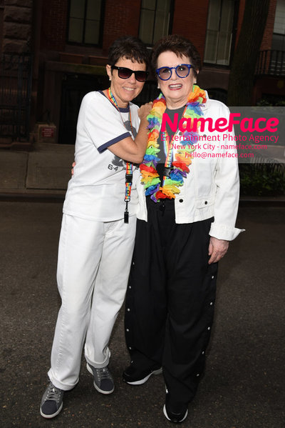 The 49th Annual NYC Pride March Ilana Kloss and Billie Jean King - NameFace Photo Agency New York City - hello@nameface.com - nameface.com - Photo by Daniela Kirsch