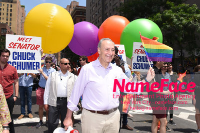 The 49th Annual NYC Pride March Chuck Schumer - NameFace Photo Agency New York City - hello@nameface.com - nameface.com - Photo by Daniela Kirsch
