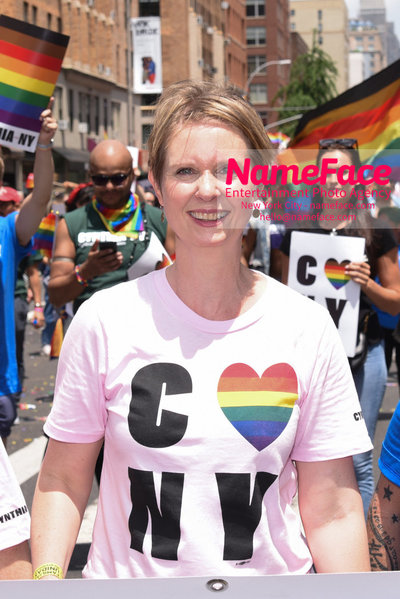 The 49th Annual NYC Pride March Cynthia Nixon - NameFace Photo Agency New York City - hello@nameface.com - nameface.com - Photo by Daniela Kirsch