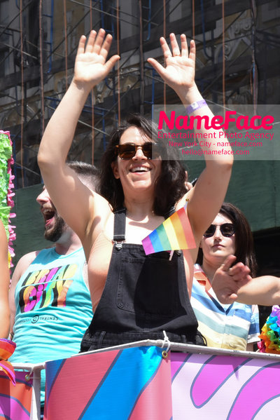 The 49th Annual NYC Pride March Abbi Jacobson - NameFace Photo Agency New York City - hello@nameface.com - nameface.com - Photo by Daniela Kirsch
